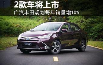 广汽丰田规划每年销量增10% 2款车将上市