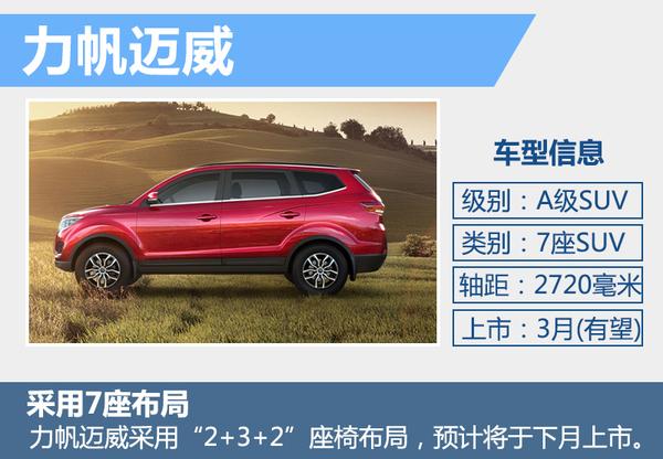 力帆全新七座SUV下月上市 尾部酷似大切诺基(图2)