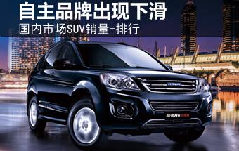 国内市场SUV销量-排行 自主品牌出现下滑