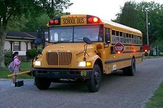 孩子为啥爱上学 看看国外的校车你就懂了