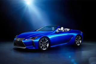 配专属蓝色车漆 雷克萨斯LC500敞篷特别版发布